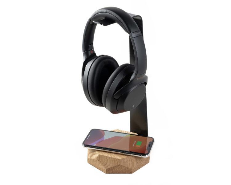 2 in 1 headphone stand oakywood oak 6