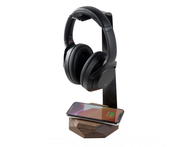 2 in 1 headphone stand oakywood walnut 6