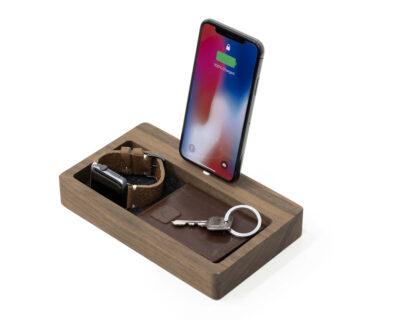 iphone dock organizer walnut oakywood 1