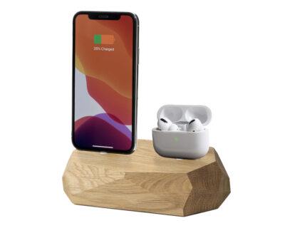 iphone dual dock oak oakywood 2