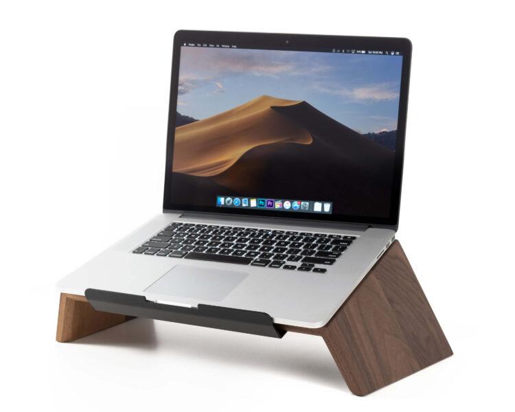 laptop stand walnut oakywood 1