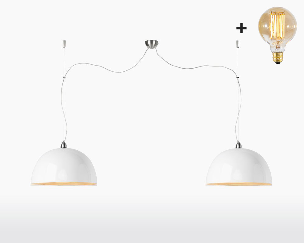double hanging lamp bamboo halong 2 shades good mojo white with light bulb on webshop wooden amsterdam.jpg