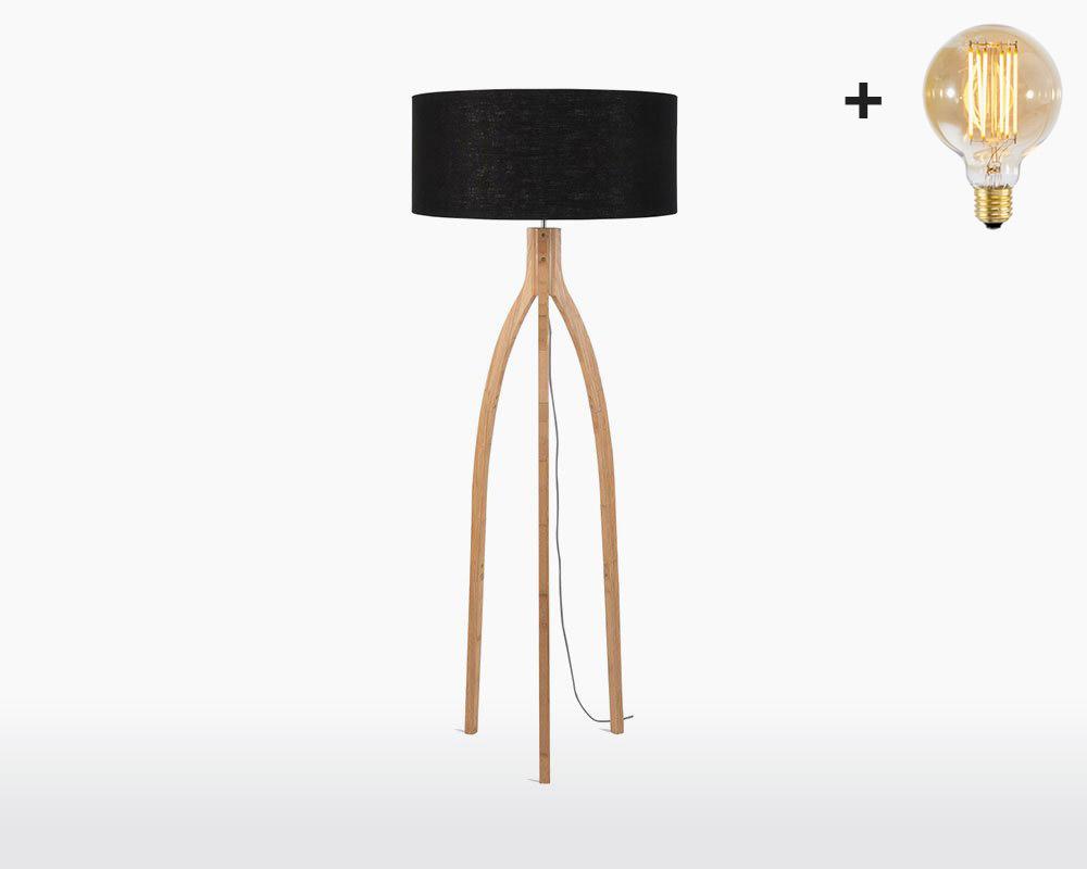 floor lamp bamboo linen annapurna good mojo h60 w30 cm black light bulb on webshop wooden amsterdam.jpg