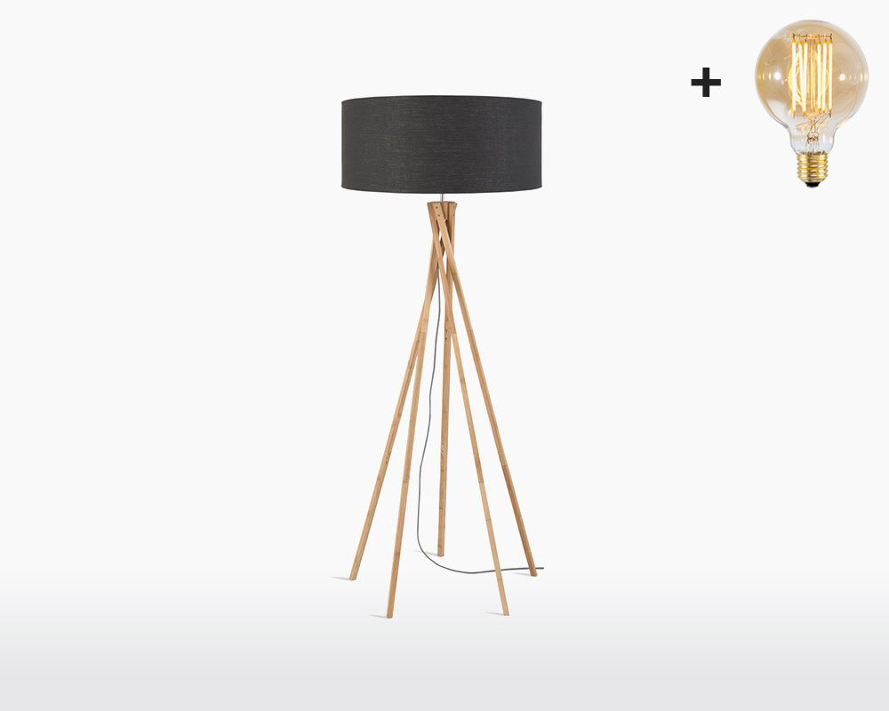 floor lamp bamboo linen kilimanjaro good mojo h60 w30 dark grey 3 light bulb on webshop wooden amsterdam.jpg