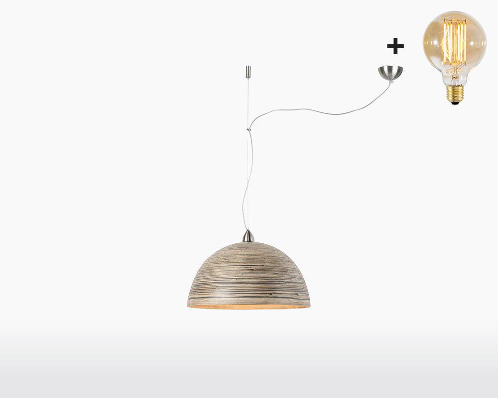 hanging lamp bamboo halong 1 shade good mojo dark natural with light bulb on webshop wooden amsterdam.jpg