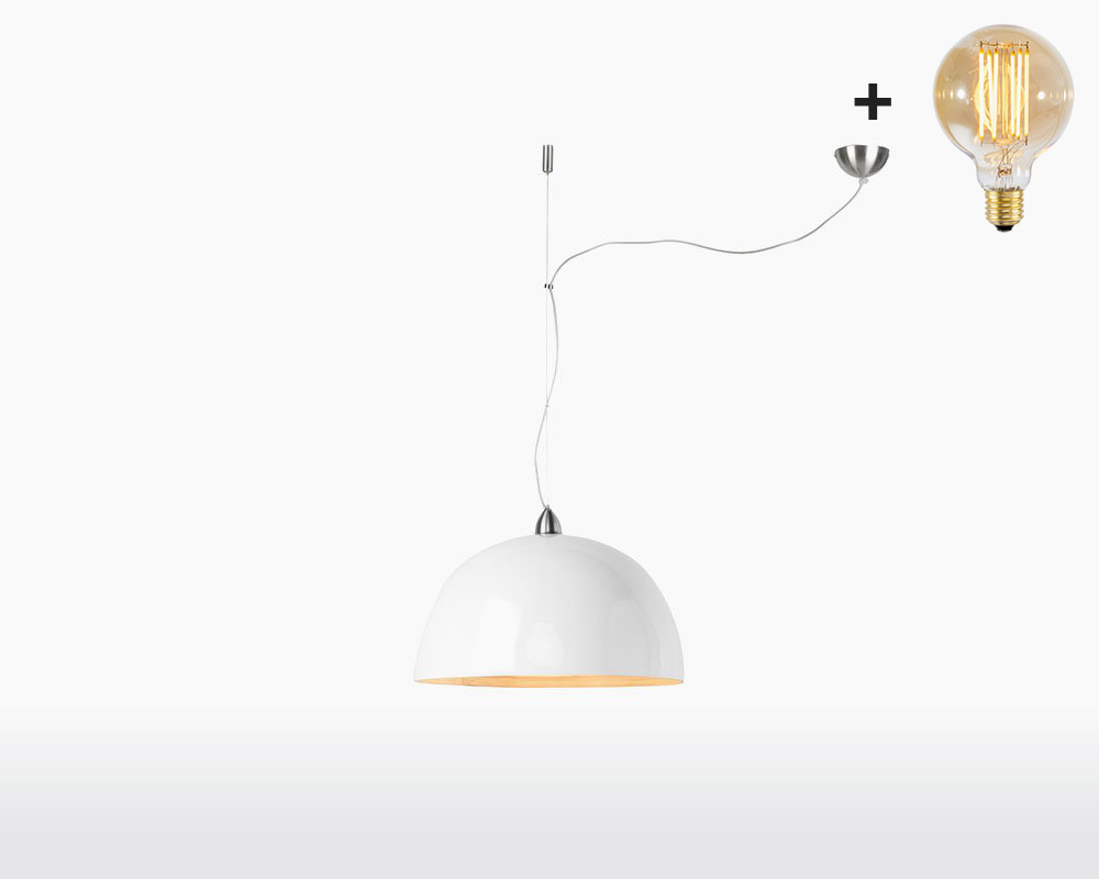 hanging lamp bamboo halong 1 shade good mojo white with light bulb on webshop wooden amsterdam.jpg
