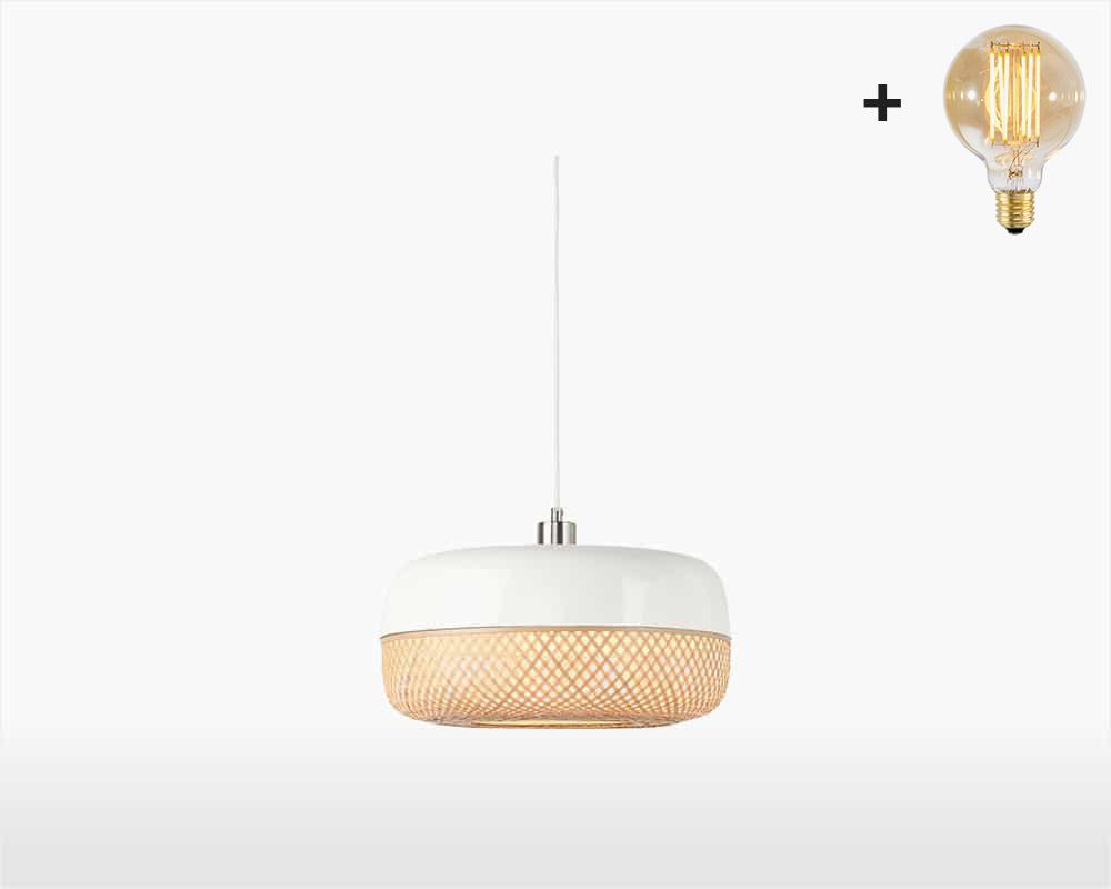 hanging lamp bamboo mekong good mojo h22 cm white with light bulb on webshop wooden amsterdam.jpg