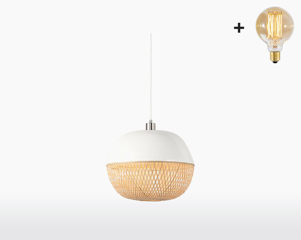 hanging lamp bamboo mekong good mojo h32 cm white with light bulb on webshop wooden amsterdam.jpg