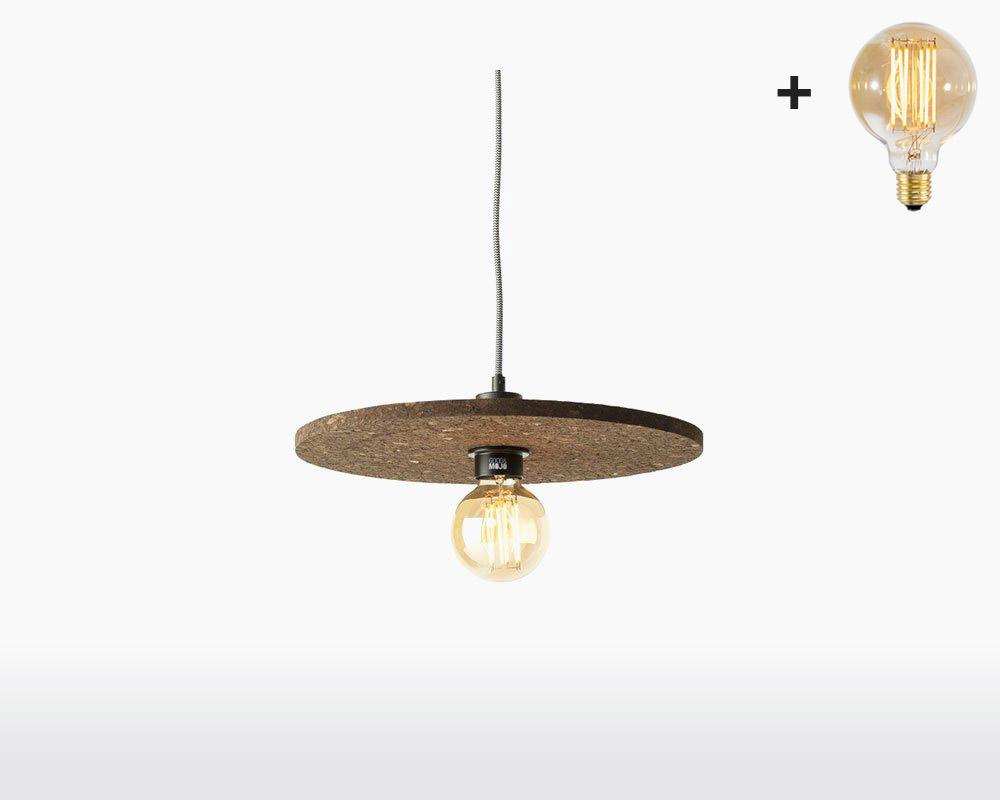 hanging lamp cork algarve good mojo h40 cm dark brown with light bulb on webshop wooden amsterdam.jpg