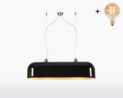 hanging lamp double good mojo halong with light bulb bamboo black on webshop wooden amsterdam.jpg