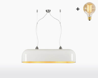 hanging lamp double good mojo halong with light bulb bamboo white on webshop wooden amsterdam.jpg