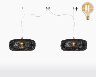 hanging lamp double good mojo palawan with light bulb bamboo black on webshop wooden amsterdam.jpg