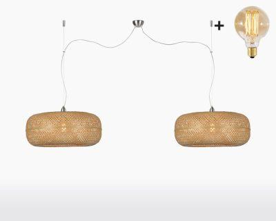 hanging lamp double good mojo palawan with light bulb bamboo natural on webshop wooden amsterdam.jpg