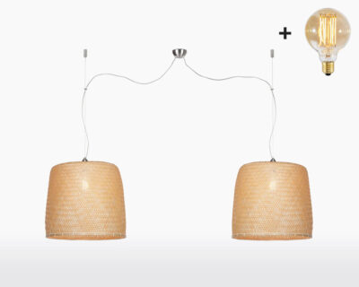 hanging lamp double good mojo serengeti with light bulb bamboo on webshop wooden amsterdam.jpg