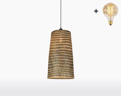 hanging lamp good mojo kalimantan with light bulb bamboo 65 on webshop wooden amsterdam.jpg