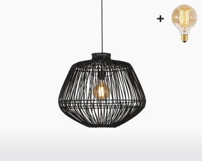 hanging lamp good mojo madagascar with light bulb bamboo h50 black on webshop wooden amsterdam.jpg