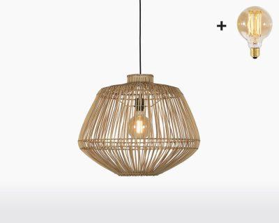 hanging lamp good mojo madagascar with light bulb bamboo h50 natural on webshop wooden amsterdam.jpg