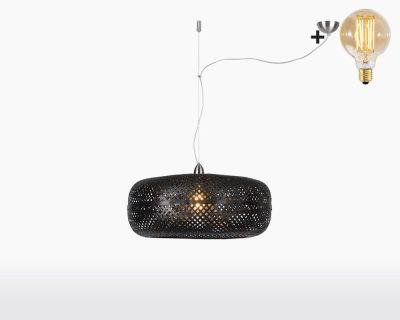 hanging lamp good mojo palawan with light bulb bamboo black on webshop wooden amsterdam.jpg