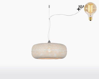 hanging lamp good mojo palawan with light bulb bamboo white on webshop wooden amsterdam.jpg