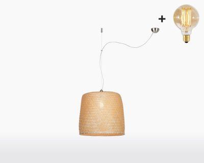 hanging lamp good mojo serengeti with light bulb bamboo on webshop wooden amsterdam.jpg