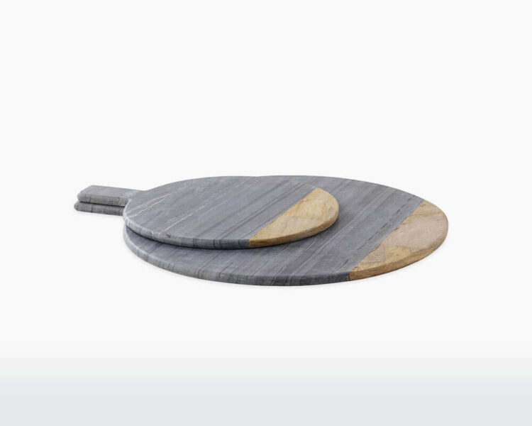 round marble board nkuku bwari mango wood grey marble pizza accessory kitchenware serve on webshop wooden amsterdam.jpg.jpg
