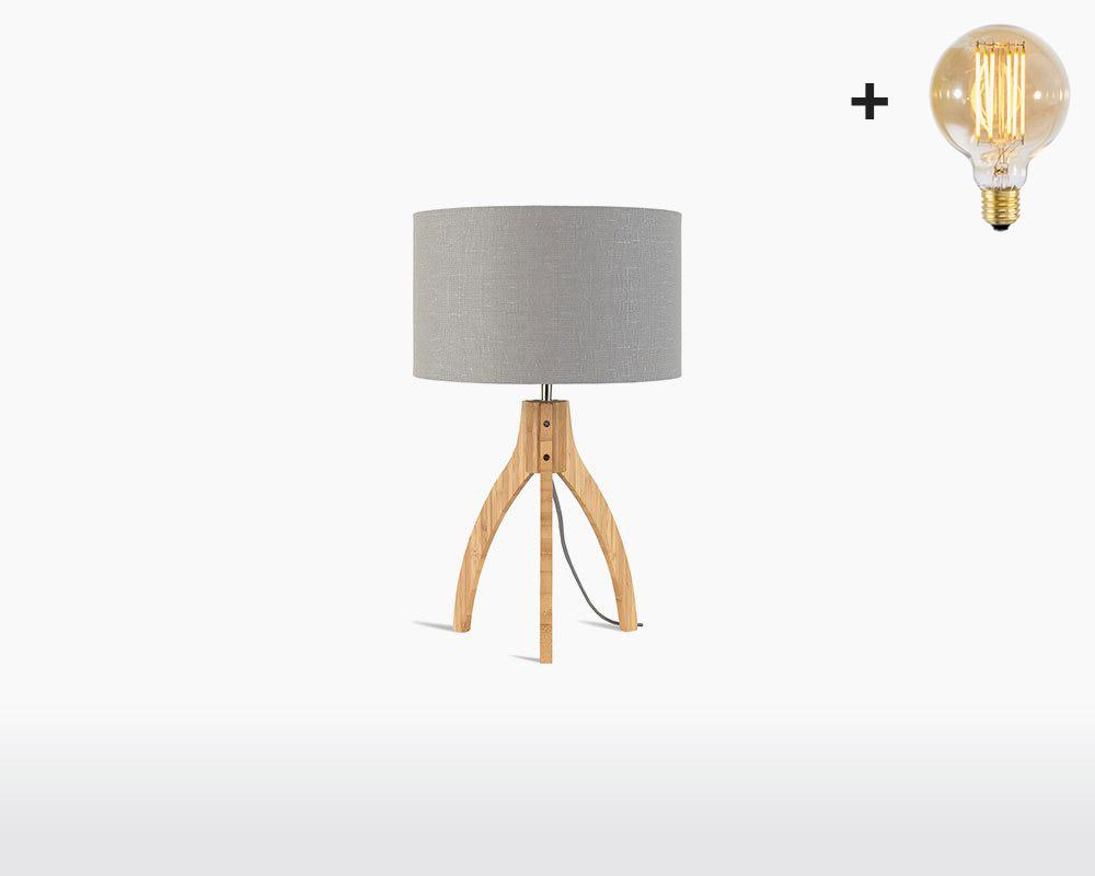 table lamp bamboo linen annapurna good mojo h32 w20 cm light grey light bulb on webshop wooden amsterdam.jpg