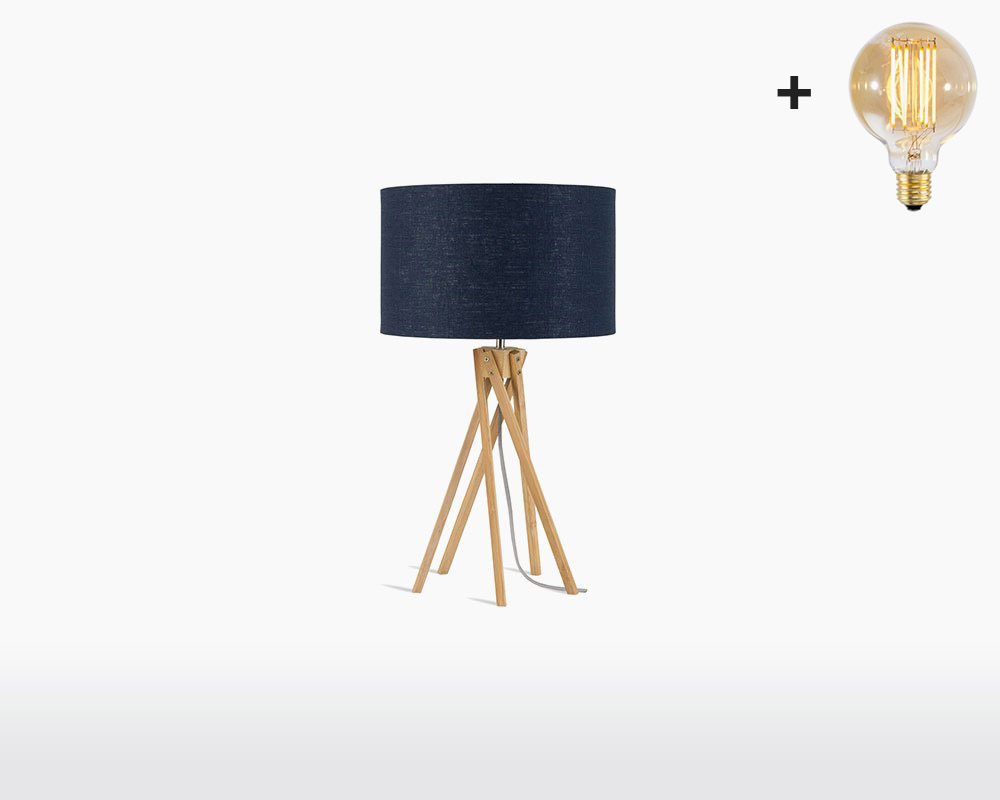 table lamp bamboo linen kilimanjaro good mojo h32 w20 blue denim light bulb on webshop wooden amsterdam.jpg