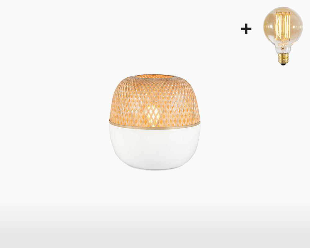 table lamp bamboo mekong good mojo h25 cm white with light bulb on webshop wooden amsterdam.jpg