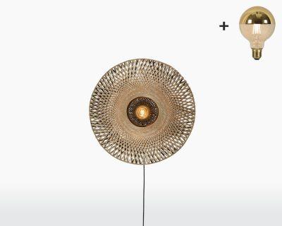 wall lamp kalimantan good mojo bamboo extra small lightbulb woven natural lighting on webshop wooden amsterdam.jpg
