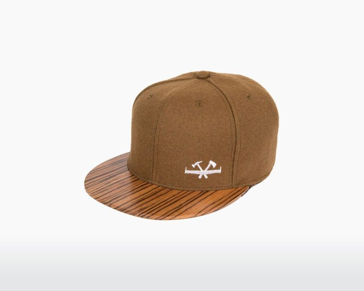 wooden cap with zebrano brim and brown wool pulley two o on wooden amsterdam.jpg