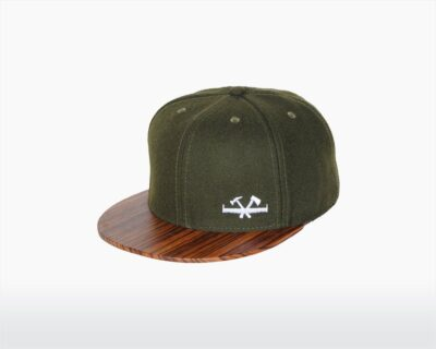 wooden cap with zebrano brim and mos green wool screw two o on wooden amsterdam.jpg