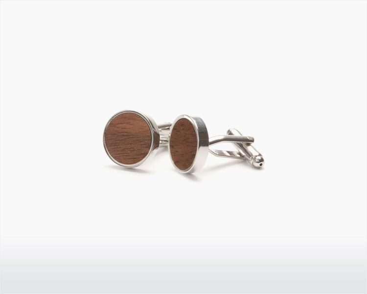 wooden cufflinks straight walnut two o on wooden amsterdam webshop.jpg