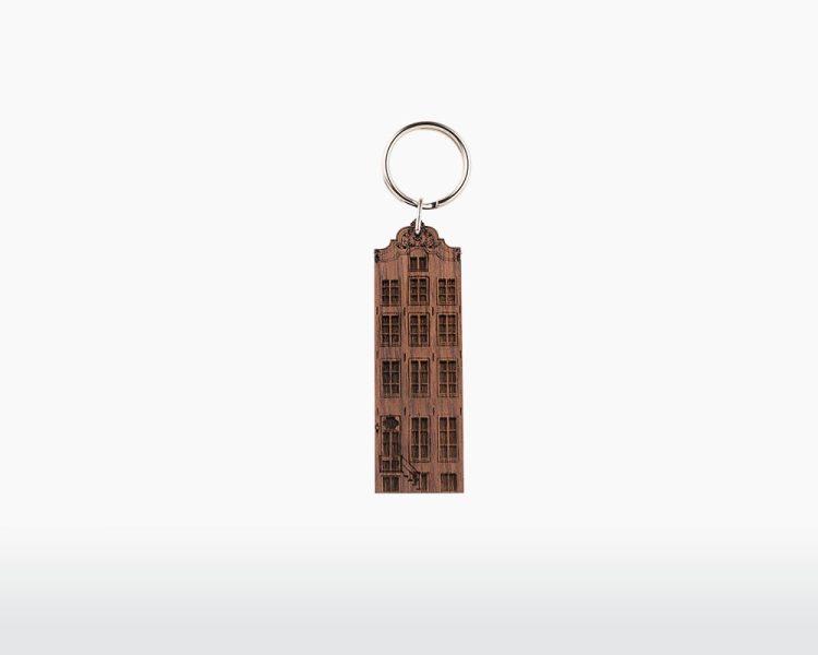 wooden keychain amsterdam amstel walnut wood canal house dutch holland on webshop wooden amsterdam.jpg.jpg