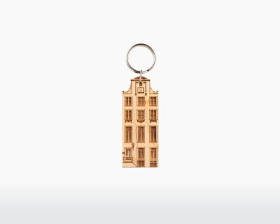 wooden keychain amsterdam canal house herengracht maple wood natural unique typical dutch on webshop wooden amsterdam.jpg.jpg