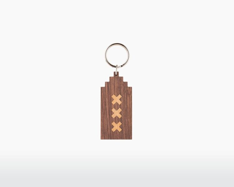 wooden keychain amsterdam stepped gable canal house walnut maple wood on webshop wooden amsterdam.jpg.jpg