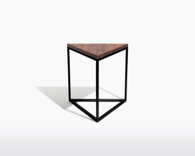 wooden side table triangle two o dylan black frame walnut wood on webshop wooden amsterdam.jpg