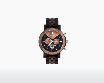 plantwear wooden watch select series chronograph walnut wenge 47mm front on webshop wooden amsterdam.jpg