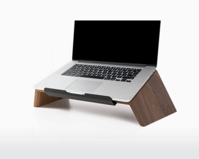 wooden laptop stand oakywood walnut wood perfect posture working on webshop wooden amsterdam.jpg