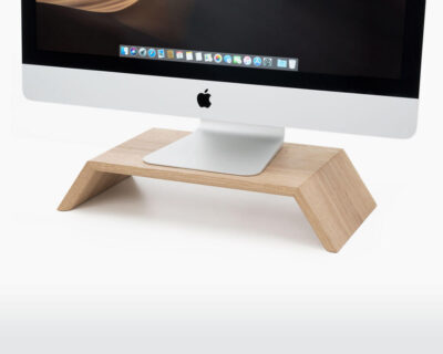 wooden monitor stand oakywood oak with monitor on webshop wooden amsterdam.jpg