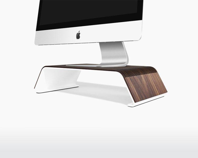 wooden monitor stand rauw walnut wood natural interior boost on webshop wooden amsterdam.jpg