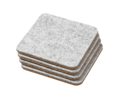 felt cork coasters oakywood grey 1