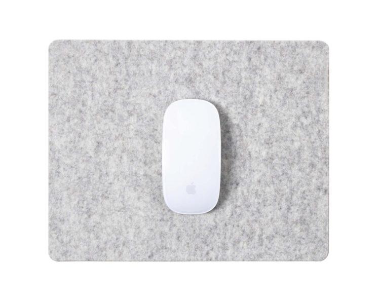 mousepad grey felt cork oakywood 1